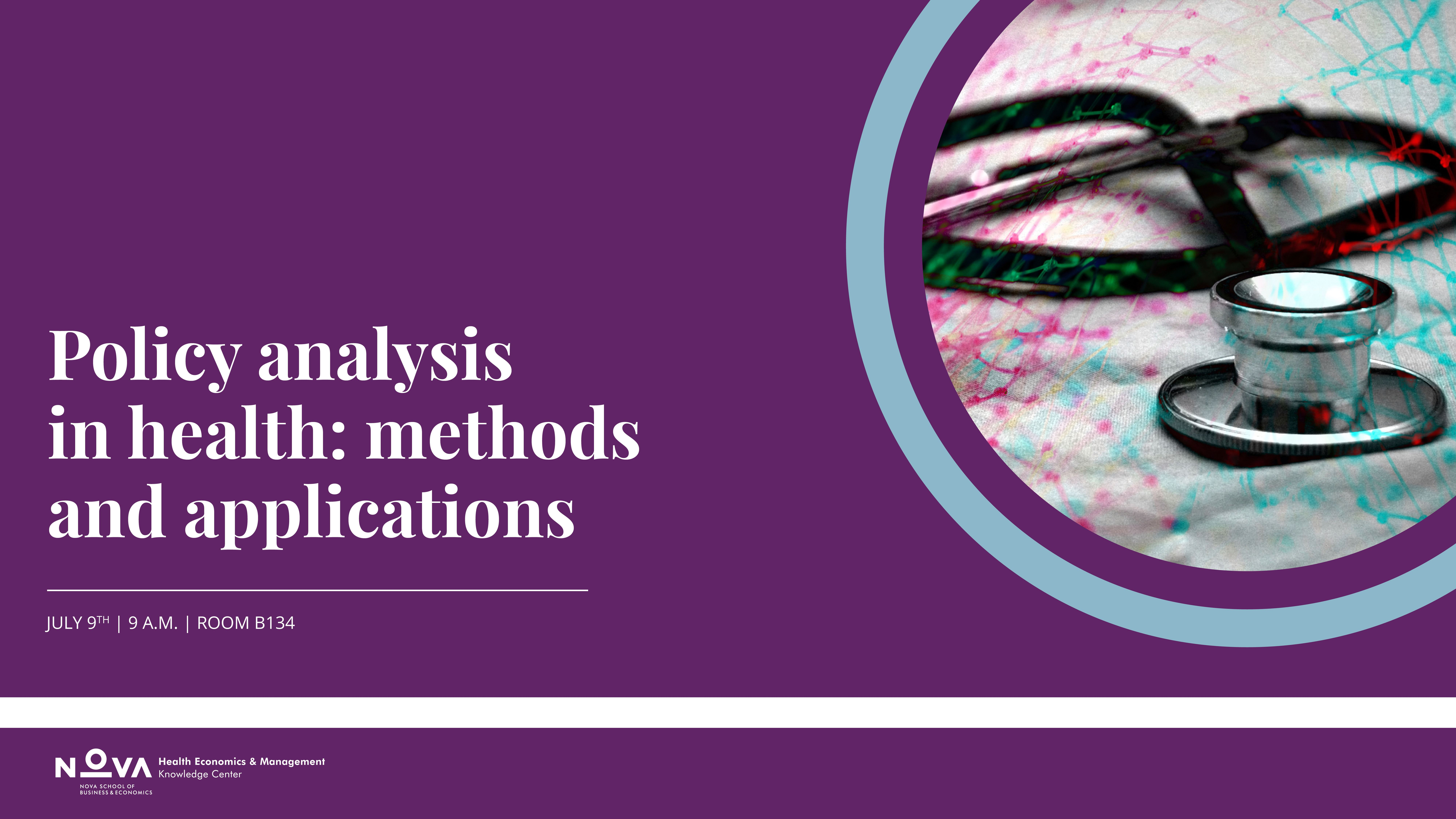 Seminar on Policy Analysis in Health: Methods and Applications